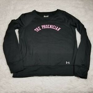 Under Armour Women's The Phoenician Sweatshirt Shirt Large L Semi Fitted Black