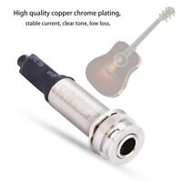 "2.5mm 1/4""Output Input Endpin Jack for Acoustic Guitar Built-in Rod Piezo Pickup"