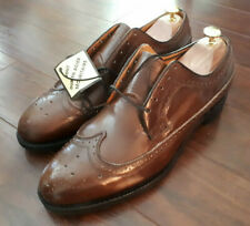 Nos Vintage Brown for Collins Leather Long-Wing Steel-Toe Dress Shoes Size 9