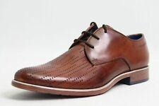 Bugatti Schuhe braun Leder komfort Lederfußbett Lochstanzungen mordern Herren
