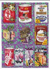2017 Topps Wacky Packages 50th Anniversary Best of the 80's Set  10 Stickers