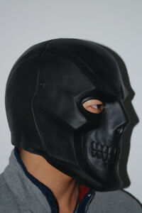 Batman Roman Sionis Full Face Latex Halloween Black Mask Party Cosplay Props