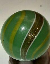 "German Handmade Green Transparent Lutz Marble - .78"""