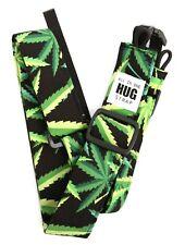 All-In-One Ukulele Hug Strap® - Marijuana Cannabis Pot Leaf Green Black uke