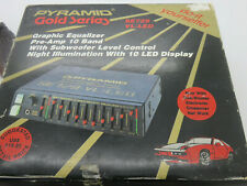 New OLD SCHOOL PYRAMID GOLD Series SE729-VL-LED Graphic Equalizer