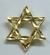 Jewish Star of David Lapel or Hat Pin in Gold Plate Made in USA by OSC NEW