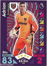 2016 / 2017 EPL Match Attax Base Card (344) ADRIAN West Ham United