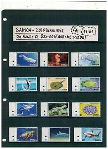 SAMOA.2014. DEFINITIVES ,UNMOUNTED MINT PART SET UP TO $25. CAT.£69