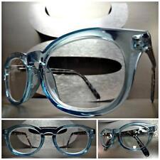 VINTAGE RETRO Style READING EYE GLASSES READERS Baby Blue & Tortoise Frame +2.50