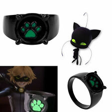 Charm Tale of Miraculous Ladybug Chat Cat Noir Green Pawprint Ring Anime