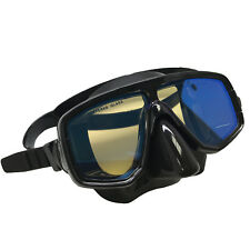 cf9b64f8900 Scuba Choice Silicone Dive Mask With Blue Mirror Coated Lense