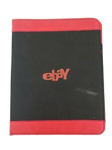 eBay Branded eBayana Black Red Binder Portfolio with Pen