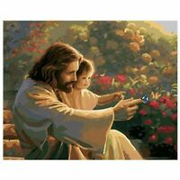 Church Jesus DIY Paint By Numbers Number Canvas Painting Number Hand Painted
