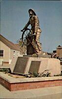 Whalers Wharf  Mariner statue San Pedro California ~ 1970s vintage postcard