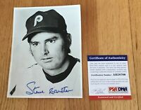 Steve Carlton Phillies HOFer Signed Autograph Vintage 4.5 x 6 Photo PSA/DNA COA
