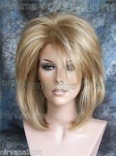 Golden Blonde with Highlights Layered Womans Nirvana Tina Turner Drag? Wig