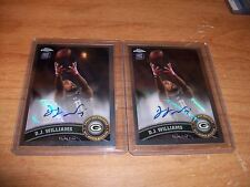 (3) 2011 Football Chrome Playoff Contenders Rookie D.J. Williams AUTO Cards Lot