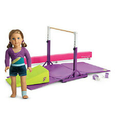 American Girl MCKENNA DOLL + BALANCE BEAM and BAR SET + PRACTICE WARDROBE outfit