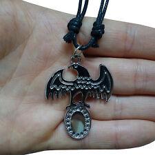 Eagle Pendant Chain Necklace Choker Mens Ladies Boys Girls Jewellery Silver Tone