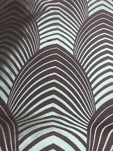 Harlequin Curtain Fabric DECO 100% Silk -Art Deco Design 7.8m Colour 8642