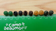 4mm Black Soft Rubber Shock Impact Beads.Carp,Cat Fish Rigs + Free Gift.