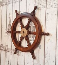 "18""Ship Wheel Wall Decorative Item Nautical Design Ship Wheel Pirate Captains"