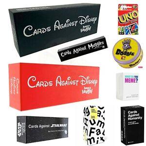 Cards Against Disney Adult Party Cards Games Kids UNO FLIP Best Game Human Meme