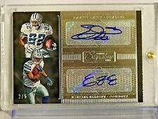 2016 Donruss Signature Series Signature Pairs #1 Emmitt Smith/Ezekiel Elliott/5