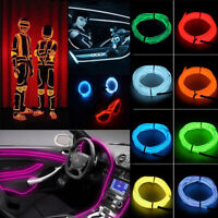 1M-5M LED Flexible Neon Light Glow EL Strip Tube Cool Wire Rope Home Car Decor