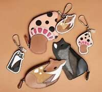NEW Coach Coin case Deer Mushroom  Fox Deer Novelty Leather Bag Charm F54923