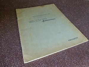 "PEUGEOT "" 504 Automatic Gearbox "" Original 1969 FACTORY WORKSHOP MANUAL rare"