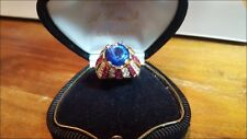 15.2 g 18 kt solid yellow gold Natural Diamonds & Rubies Gold Ring