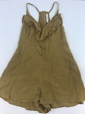LUSH Nordstrom Womens Sleeveless Blouse Flowy  Tank Top RompErs Greenish S