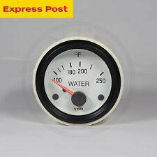 VDO 52mm 12v WHITE/BLACK 100-250°F WATER TEMP GAUGE automotive-marine-4wd