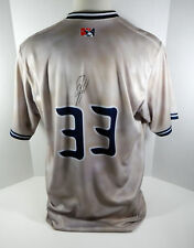 2017 Syracuse Chiefs Jacob Turner #33 Game Used Signed Brown Dog Night Jersey