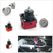 Profession Adjustable Car Fuel Pressure Regulator&Gauge AN Fitting End Universal