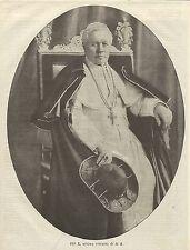 A1160 Ultimo ritratto di S.S. PIO X - Stampa Antica del 1905
