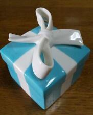 TIFFANY&Co. Couples Classic Blue Bow Jewelry Box Ceramic Japan F/S