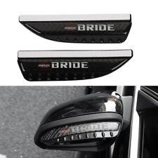2pc Bride Carbon Fiber Rear View Side Mirror Visor Shade Rain Shield Water Guard Fits 2013 Lexus Rx350