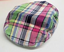 Girl's Size 2T-3T Gymboree Pink/Green Plaid Flat Cap New Nwt #8285