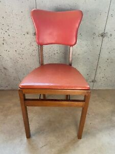 Vintage Stakmore Folding Chair - Orange