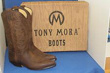Tony mora botas botas vaqueras botas de vaquero botas elegante marrón nuevo talla. 36