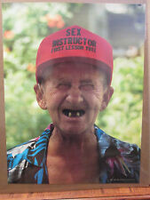 """""""Clyde"""" Sex Instructor First  lesson free 1986 funny vintage poster 10045"""