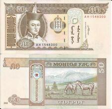 MONGOLIA 50 TUGRIK 2008 LOTE DE 5 BILLETES