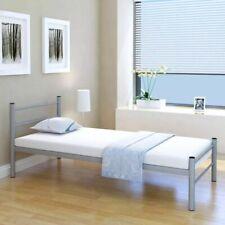 vidaXL Bedframe Metaal Grijs 90x200 cm Ledikant Bed Ombouw Frame Bedombouw