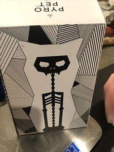 Pyropet Kisa Pink Cat Skeleton Candle UnLit Original Box by Thorunn Arnadottir