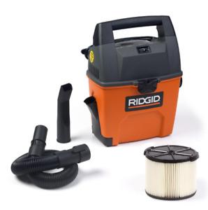 Rigid Wet Dry Vacuum Small Portable Shop Vac Cleaner Hose Lightweight 3Gal. NEW
