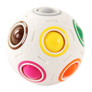 Rainbow Ball Fidget Toy Stress Anxiety Relief Puzzle Game for Toddlers Adults