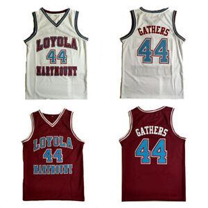 Throwback Hank Gathers #44 Basketball Jerseys Stitched Red White XS-5XL