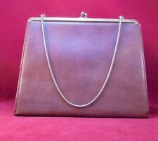 Vintage Bon Gout Made in Denmark leather clutch purse w/Chain handle